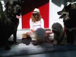 young-client-with-a-calm-k9-pack-outside-the-holistic-resort-front-entrance